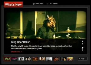 "King Bee's Pete Capo gets interviewed for ""Balls"" Music Video"